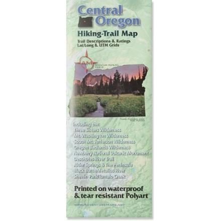 Adventure Maps Central Oregon Hiking Trail Map