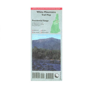 photo: Appalachian Mountain Club White Mountains Trail Map: Presidential Range us northeast paper map