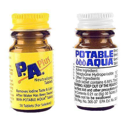 photo: Potable Aqua Water Purification Tablets with P.A. Plus chemical water treatment