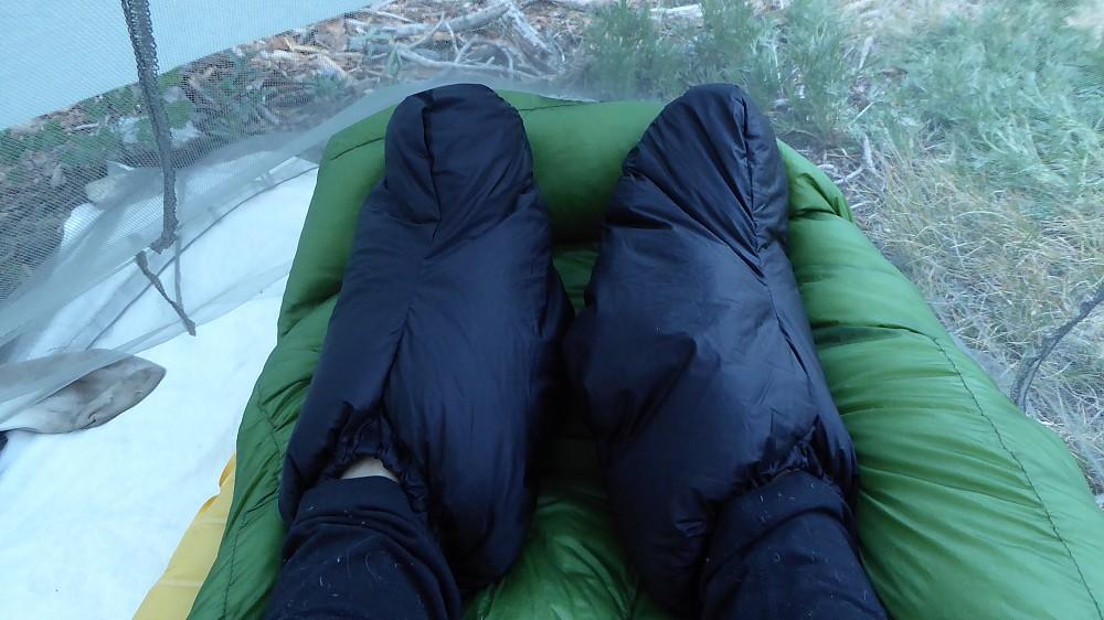 photo: GooseFeet Gear Down Socks bootie