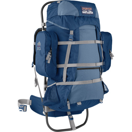 photo: JanSport Carson 80 external frame backpack