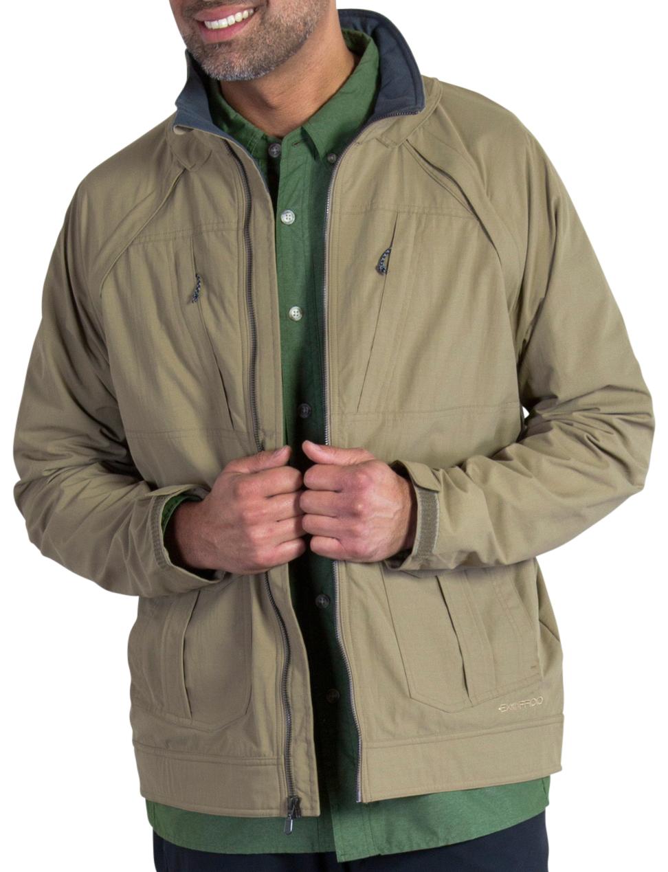 photo: ExOfficio FlyQ Convertible Jacket soft shell jacket