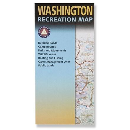 Benchmark Maps Washington Recreation Map