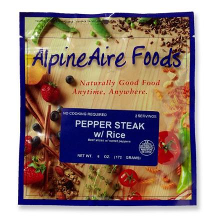 AlpineAire Foods Pepper Steak with Rice