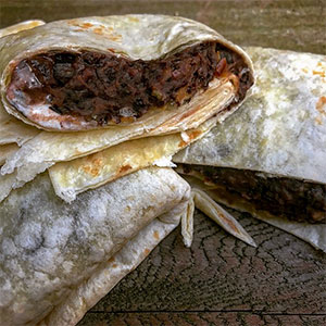 Packit Gourmet Trailside Black Bean and Cheese Burrito