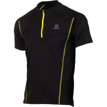 photo: Salomon Pace T 1/2 Zip short sleeve performance top