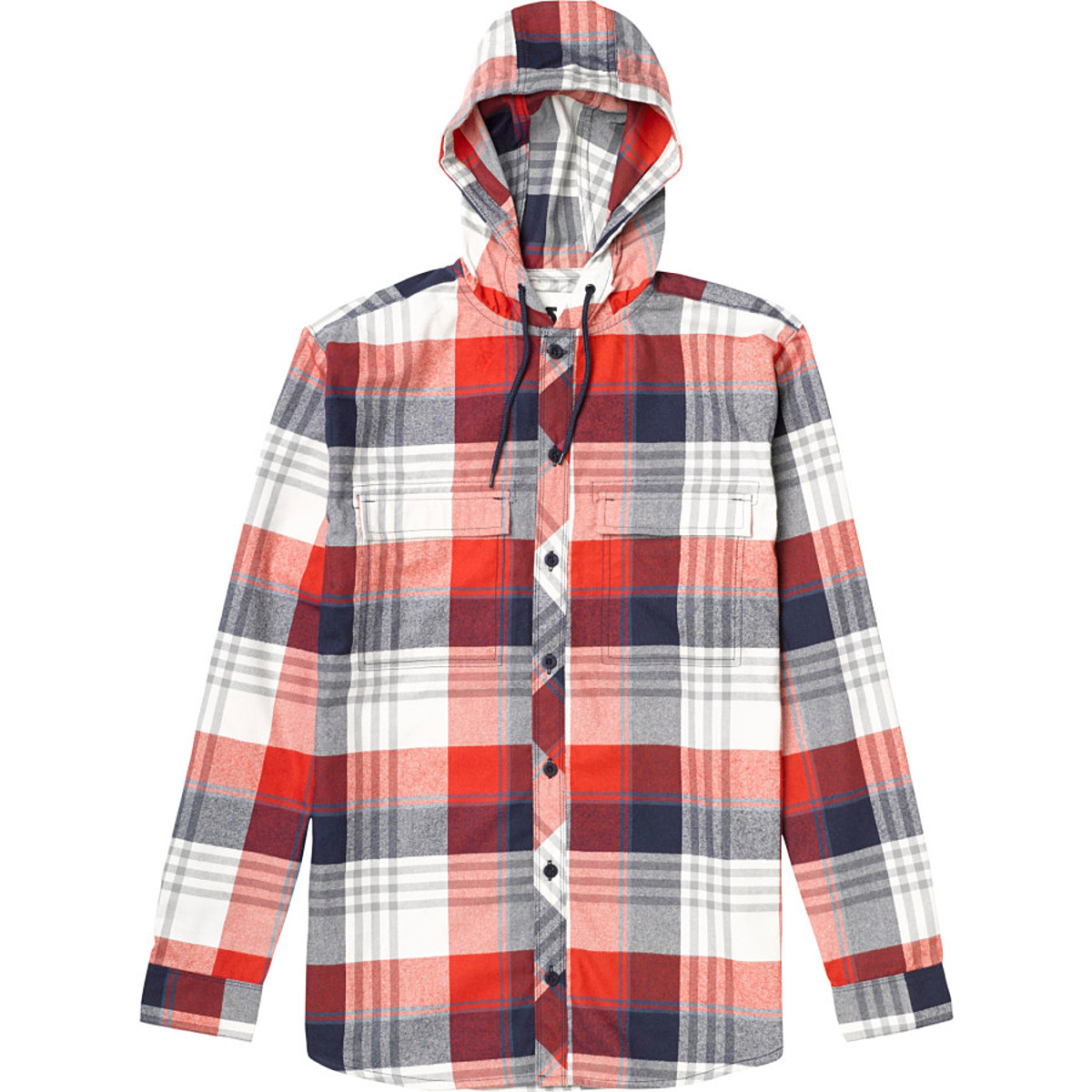 photo: Burton Ruckus Hooded Flannel long sleeve performance top