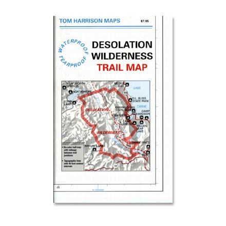 photo: Tom Harrison Maps Desolation Wilderness Map us pacific states paper map
