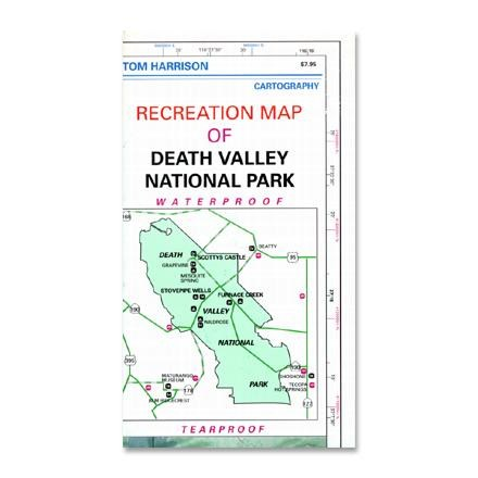 photo: Tom Harrison Maps Recreation Map Of Death Valley National Park us pacific states paper map