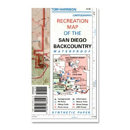 Tom Harrison Maps Recreation Map of the San Diego Backcountry