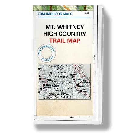 Tom Harrison Maps Mt. Whitney High Country Trail Map
