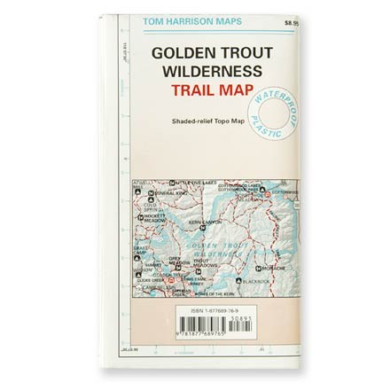 photo: Tom Harrison Maps Golden Trout Wilderness Trail Map us pacific states paper map