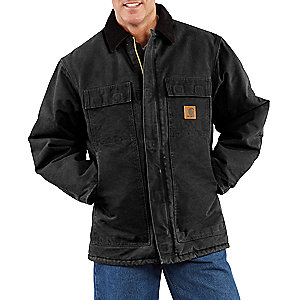 photo: Carhartt Men's Sandstone Traditional Coat/Arctic Quilt-Lined synthetic insulated jacket