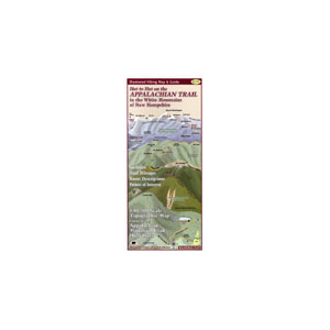 photo: Wilderness Map Co. Hut to Hut on the Appalachian Trail in the White Mountains us northeast paper map