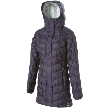 photo: Sierra Designs Long Flex Down Jacket down insulated jacket