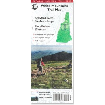 photo: Appalachian Mountain Club White Mountains Trail Map: Crawford Notch-Sandwich Range and Moosilauke-Kinsman us northeast paper map