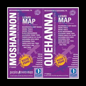 photo: Purple Lizard Maps Moshannon–Quehanna Trail Map us northeast paper map