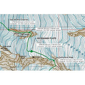 photo:   Carin Mountain Company Mount Rainier Guide Reference Map us pacific states paper map