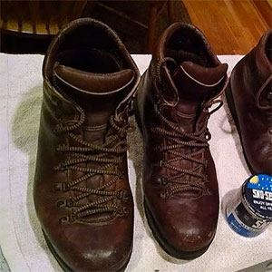photo of a Fabiano backpacking boot
