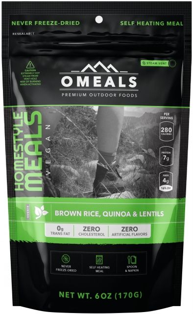 OMeals Brown Rice, Quinoa & Lentils