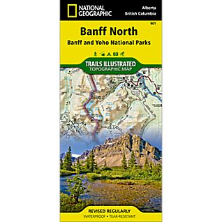 National Geographic Banff North Trail Map