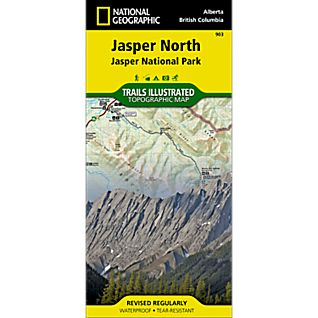 National Geographic Jasper North Trail Map