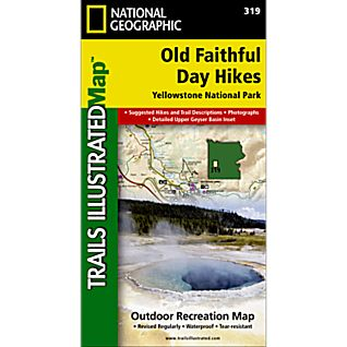 National Geographic Old Faithful Day Hikes Trail Map