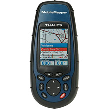 photo of a Thales Navigation handheld gps receiver