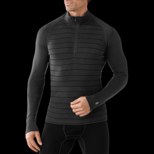 photo: Smartwool Men's Midweight Pattern Zip-T base layer top