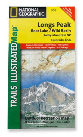 National Geographic Longs Peak Trail Map