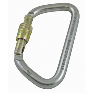 Sterling Rope Steel Screwlock Carabiner