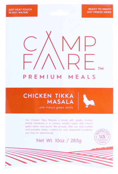 CampFare Chicken Tikka Masala with French Green Lentils