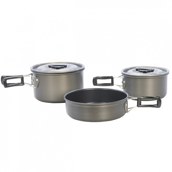 Texsport Scouter Black Ice Hard Anodized Cook Set