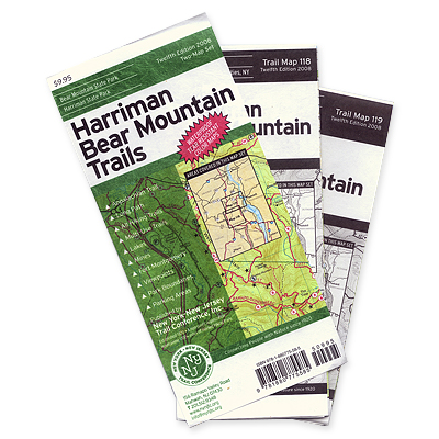 NY-NJ Trail Conference Harriman Bear Mountain Trails Map Set
