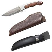 photo: Boker Slim Hunter Damascus fixed-blade knife