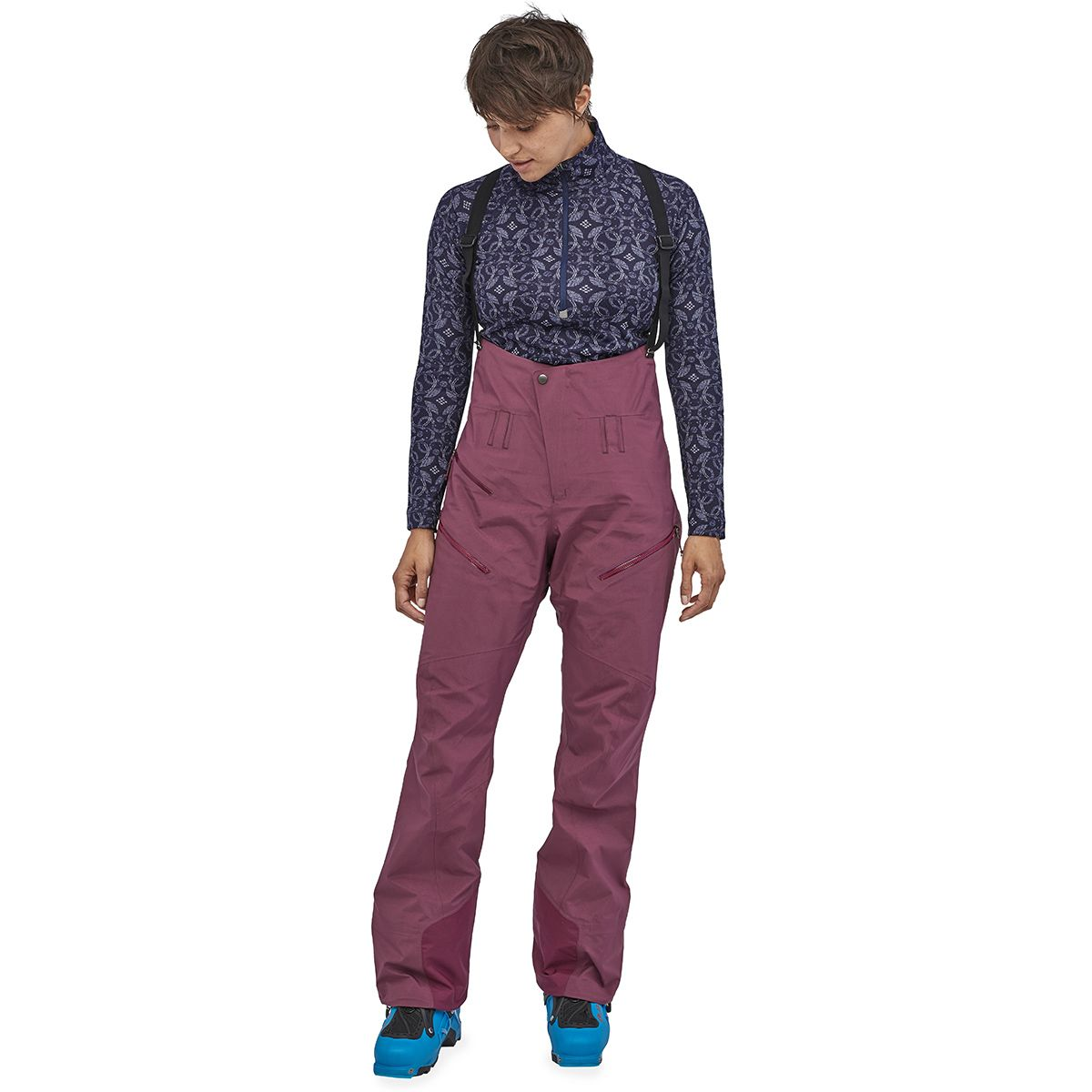 photo: Patagonia Women's PowSlayer Bibs snowsport pant