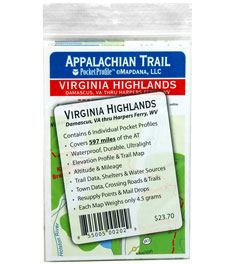 Pocket Profile Maps Appalachian Trail Virginia Highlands