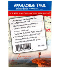 Pocket Profile Maps Appalachian Trail