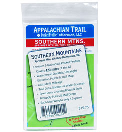 Pocket Profile Maps Appalachian Trail Southern Mountains