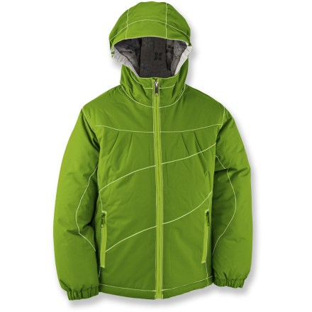 White Sierra Snow Crystal Insulated Jacket