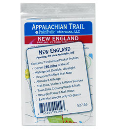 Pocket Profile Maps Appalachian Trail New England