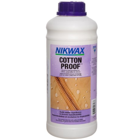 photo: Nikwax Cotton Proof fabric cleaner/treatment