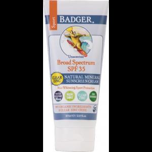 Badger Sport Broad Spectrum SPF 35 Clear Zinc Sunscreen