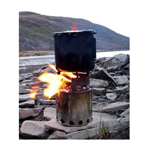 photo of a Bushbuddy solid fuel stove