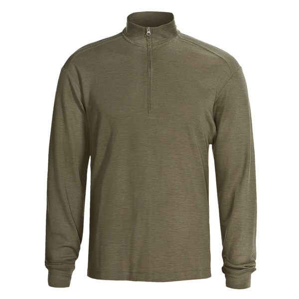 photo: Woolrich Territory Merino Half Zip Shirt hiking shirt