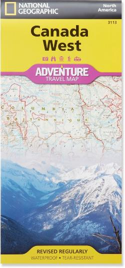 National Geographic Canada West Adventure Travel Map