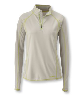 L.L.Bean Power Dry Stretch Base Layer, Lightweight Quarter-Zip