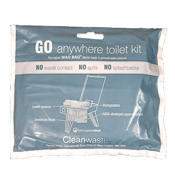 Cleanwaste Go Anywhere Toilet Kit Wag Bag