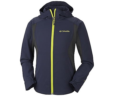 photo: Columbia Girls' Splash Flash Hooded Softshell soft shell jacket