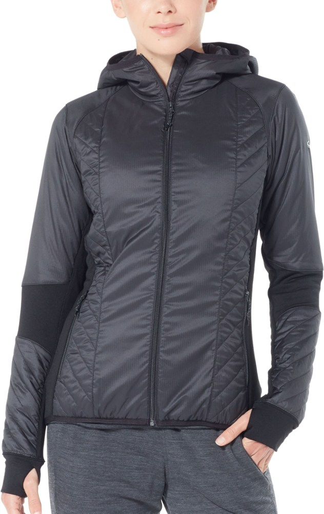 photo: Icebreaker Women's MerinoLOFT Helix Long Sleeve Zip Hood synthetic insulated jacket